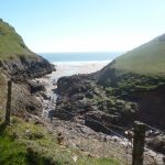 The path to Mewslade Bay