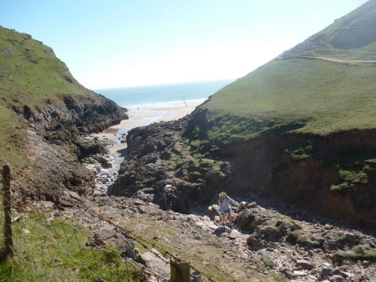 The path to Mewslade Bay, the closest beach to Clovercliff holiday cottage
