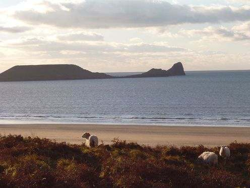 Rhosilli Beach and Worms Head